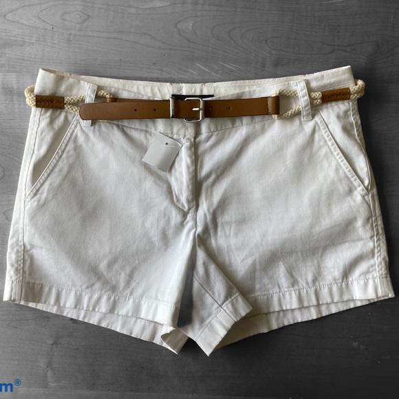 J Crew Chino White Shorts   Size 8